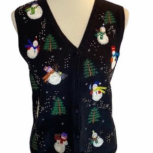 Vintage Studio Works Christmas Sweater Vest